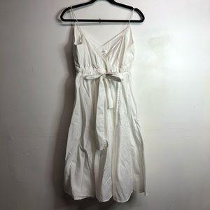 Diane von Furstenberg white faux wrap dress size 8